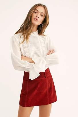 Mod Leather Mini Skirt