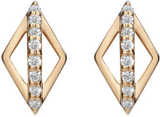 Gillian Steinhardt 14k Gold & Diamond Pierrot Stud Earrings