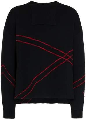 Raf Simons contrast stitch sweater