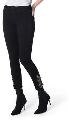 Joe's Jeans The Charlie High-Rise Embellished Skinny Jeans