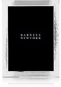 """Barneys New York 5"""" x 7"""" Hammered Silver-Plated Picture Frame-Silver"""