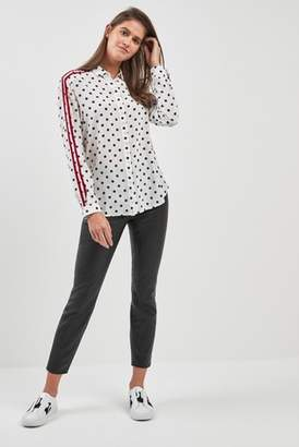 4487215f10051b Next Womens BOSS Polka Dot Side Stripe Silk Shirt