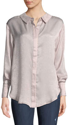 Avantlook Two-Sided Button Front Blouse