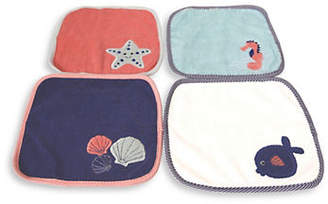 BABY'S FIRST BY NEMCOR Four-Pack Shell Graphic Washcloth Set