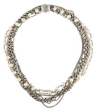 David Yurman Two-Tone Multistrand Pearl Necklace