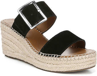 41c2aa73532 Franco Sarto Black Espadrille Wedge Women's Sandals - ShopStyle