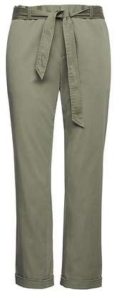 Banana Republic Avery Straight-Fit Sateen Ankle Pant with Tie Waist