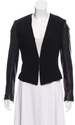 Rag & Bone Leather Sleeve Blazer
