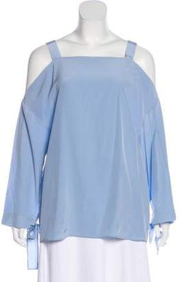 Tibi Off-Shoulder Silk Top w/ Tags
