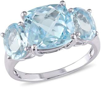 Concerto Sterling Silver Blue Topaz Three-Stone Ring