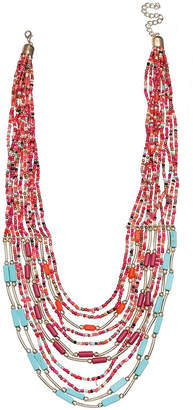 MIXIT Mixit Clr 0418 Turq Muti Womens Beaded Necklace