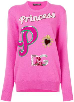Dolce & Gabbana Princess patch jumper