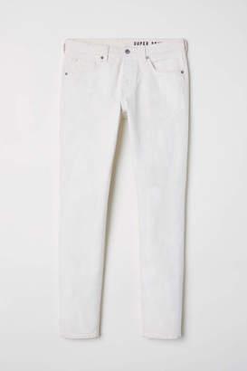 H&M Super Skinny Jeans - Light beige - Men