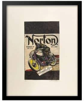 Norton Co. Luxe West Motocycles Vintage Ad Print