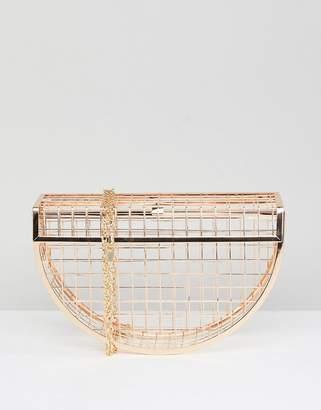 Asos Half Moon Cage Clutch Bag