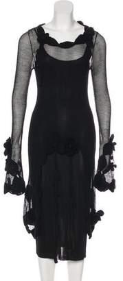Chanel Camellia Knit Dress