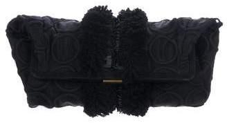 Marni Embellished Organza Frame Clutch