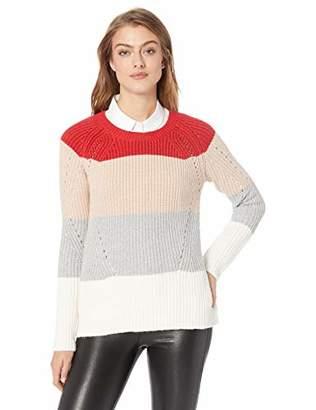Lucky Brand Women's Scoop Neck Pointelle Sweater