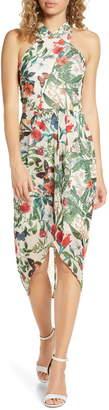 Cooper St Salsa Floral High Neck Drape Dress