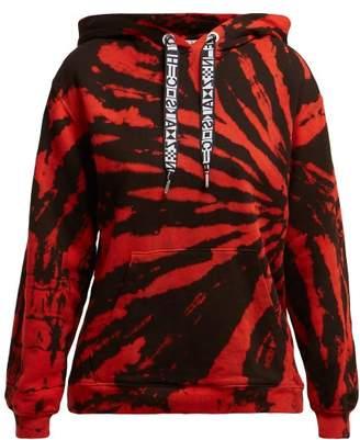 Proenza Schouler pswl Pswl - Tie Dye Cotton Hooded Sweatshirt - Womens - Red Multi