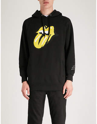 THE ROLLING STONES Logo-print cotton-jersey hoody