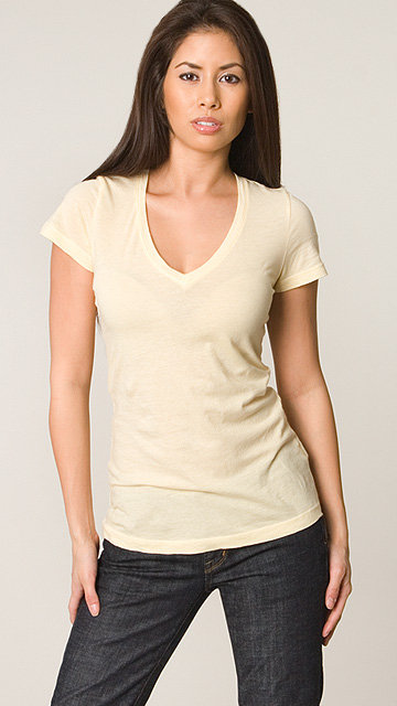 James Perse Dandelion S/S V Neck Tee