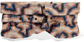 Isabel Marant Printed Cotton And Linen-Blend Waist Belt