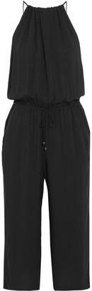 Splendid - Kloe Voile Halterneck Jumpsuit - Black $200 thestylecure.com