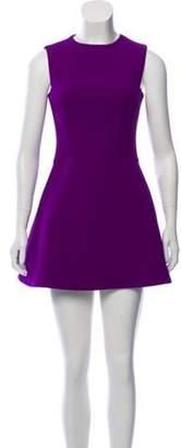 Victoria Beckham Silk & Wool-Blend Mini Dress Purple Silk & Wool-Blend Mini Dress