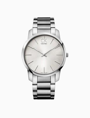 Calvin Klein city silver watch