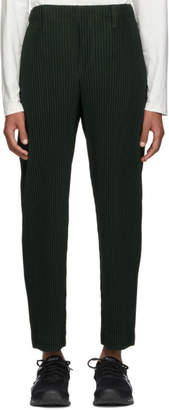 Homme Plisse Green Pleated Tailored Trousers