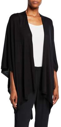 Eileen Fisher Fine Silk/Cashmere Serape Cardigan