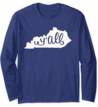 Cute Y'all Long Sleeve Shirt for Southern Girls in Kentucky
