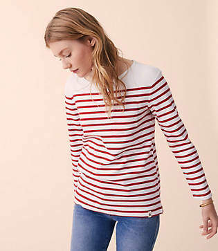 Lou & Grey Striped Pocket Top