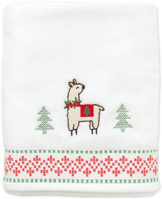 Dena Festive Llama Cotton Embroidered Bath Towel Bedding