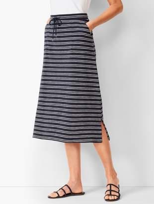 Talbots Stripe Midi Skirt