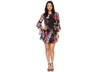 CeCe Ashley Bell Sleeve Blooms Dress Women's Dress