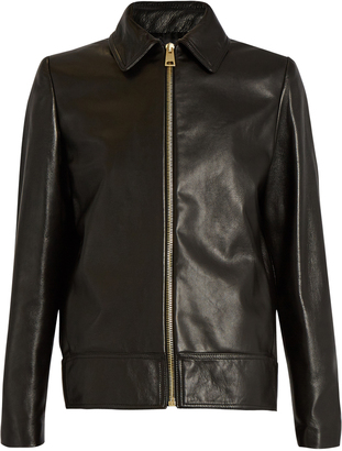 LANVIN Point-collar leather jacket $3,195 thestylecure.com