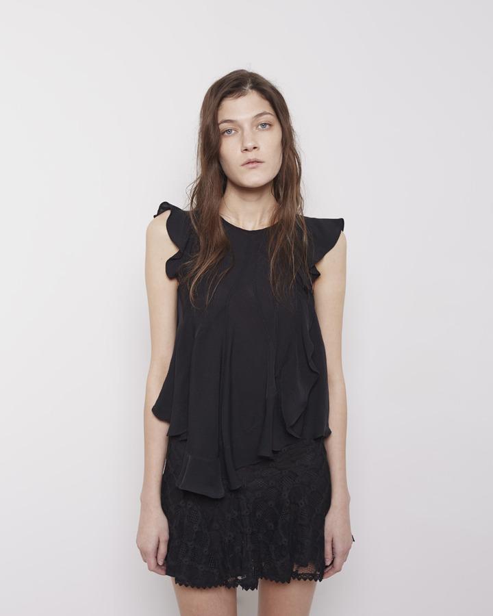 Isabel Marant purd lace miniskirt