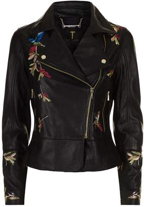 Ted Baker Andraya Leather Biker Jacket