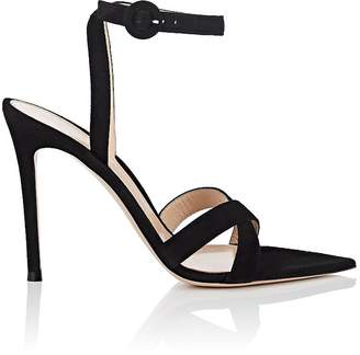 Gianvito Rossi Women's Suede Ankle-Strap Sandals