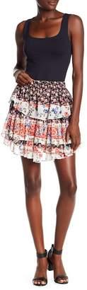 ALLISON NEW YORK Mixed Floral Print Mini Skirt