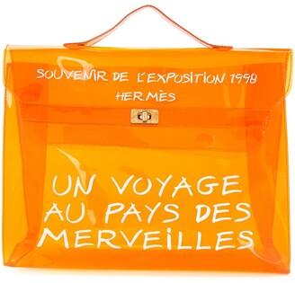 Hermes Pre-Owned Vinyl Kelly beach bag