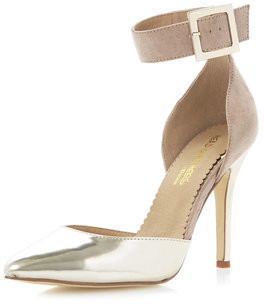 Dorothy Perkins Head Over Heels By Dune Penny Two Part Open Court Shoes