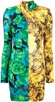Richard Quinn clasp print mini dress