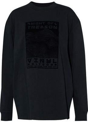Alexander Wang Flocked Cotton-Jersey Sweatshirt