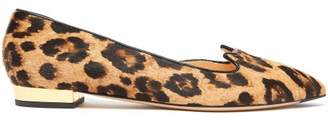 Charlotte Olympia Kitty D'orsay Leopard Print Calf Hair Flats - Womens - Leopard