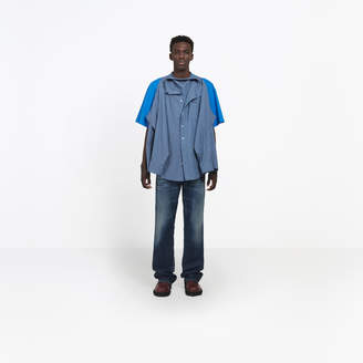 Balenciaga Striped short sleeves and long sleeves shirts with two wearing options