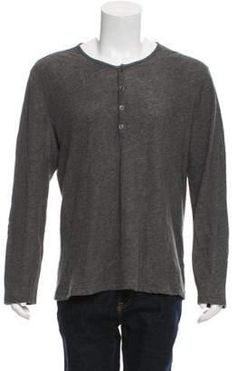 John Varvatos Woven Henley Shirt