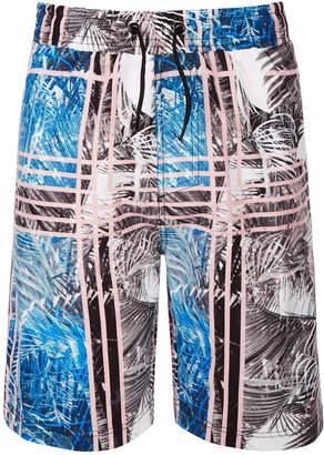 932545aa01 Trunks Ideology Big Boys Palm-Print Swim Trunks, Created for Macy's